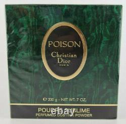 (100,00eur/100g) 200g Christian Dior Poison Perfumed Dusting Powder Neu Ovp