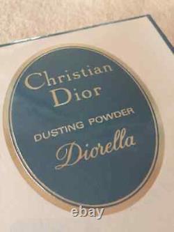 100%AUTHENTIC DIOR DIORELLA PARFUMED DUSTING POWDER&PUFF HUGE 114G ONLY 1on EBAY