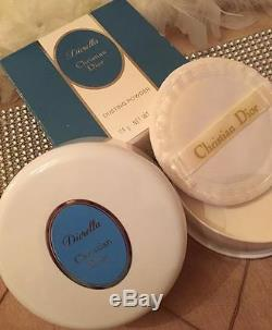 100%AUTHENTIC DIOR DIORELLA PERFUMED DUSTING POWDER&PUFF HUGE 114G ONLY 1on EBAY