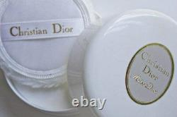 100%authentic Beyond Rare Huge Miss Dior Vintage Perfumed Dusting Powder & Puff