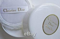 100%authentic Beyond Rare Huge Miss Dior Vintage Perfumed Dusting Powder & Puff