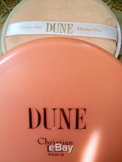 100%authentic Huge Rare Dior Dune Vintage Perfumed Talcum Dusting Body Powder