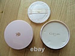 14u/vtg Guerlain Shalimar Dusting Powder/perfumed/2 Oz/pink/sealed Inside