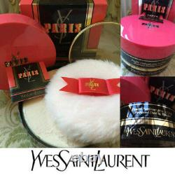 BEYOND RARE SEALED HUGE 150G YSL PARIS VINTAGE PeRFUMED TALCUM DUSTING POWDER