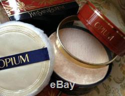 Beyond Rare Huge 120g Ysl Opium Vintage Perfum Talcum Talc Dusting Body Powder
