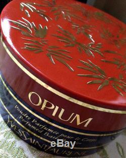 Beyond Rare Huge 120g Ysl Opium Vintage Perfumed Bath Talcum Talc Dusting Powder