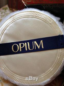 Beyond Rare Huge 120g Ysl Opium Vintage Perfumed Talcum Talc Dusting Body Powder