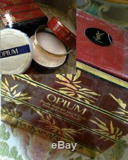 Beyond Rare Sealed Huge 150 G Ysl Opium Vintage Perfumed Talcum Dusting Powder