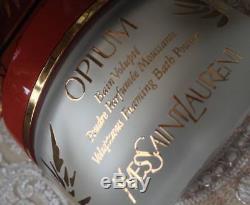 Beyond Rare Sealed Huge 150g Ysl Opium Perfumed Talcum Talc Dusting Bath Powder