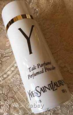 Beyond Super Rare Huge 100g Ysl Y Vintage Perfumed Talcum Talc Dusting Powder
