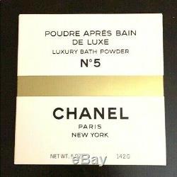 CHANEL NO 5 Deluxe Luxury Bath Body Dusting Powder LARGE 5 oz Fragrance Talc NIB