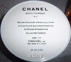 CHANEL NO 5 PERFUMED DUSTING BATH POWDER 4 OZ size 110 & 3 oz Bath Oil Set NEW