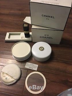 CHANEL No 5 Bath Powder 8 oz! Perfumed Dusting Bath Powder Cologne 1 1/2oz Spray