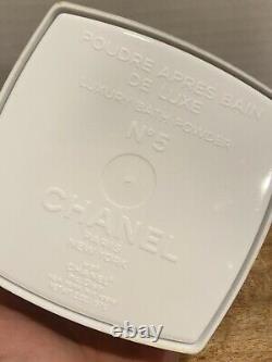 CHANEL No. 5 Perfumed Lux After Bath Powder 2.0 oz. Sealed Dusting Powder READ