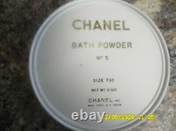 CHANEL No. 5 Vintage perfumed dusting bath powder NEW without box SEALED 8oz