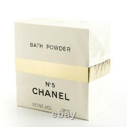 Chanel No5 Perfume Dusting Bath Body Powder 8OZ Perfumed NIB Sealed Box No 5