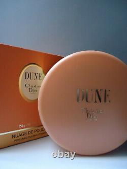 Christian Dior DUNE Perfumed Dusting Powder Talc 120g Mint Sealed Gift Cond Box