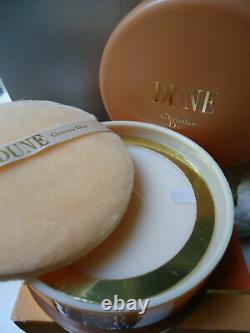 Christian Dior Dune Perfumed Dusting Powder Talc 150g HUGE Gift Cond Sealed Box