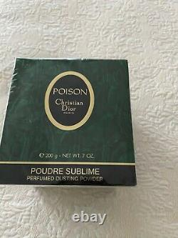 Christian Dior Vintage Poison Perfumed Dusting Powder 7oz. New, Sealed $149.99