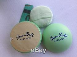 Deci Dela by Nina Ricci perfumed dusting powder NIB Collectable
