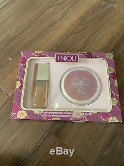 ENJOLI Concentrated Cologne Spray 1.25 oz 35gr Perfumed Dusting Powder 2.5 Oz 75