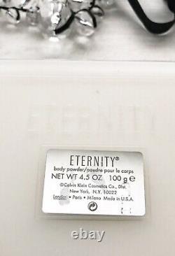 ETERNITY Body Bath Dusting Powder 4.5oz RARE CALVIN KLEIN Women's Fragrance HTF