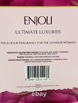 Enjoli 8 Hour Spray Cologne 1.6oz and Dusting Powder 2.5 oz in original box