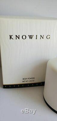 Estee Lauder Perfume Knowing Perfumed Body Bath Dusting Powder 4.25 oz FREEUSHIP