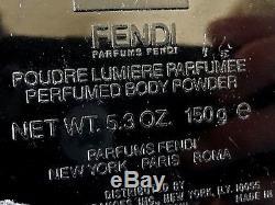 Fendi Perfumed Body Powder Original 5.3 OZ 150g Dusting Poudre 90% FULL