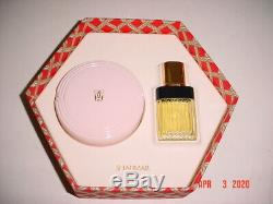 Guerlain Shalimar Gift Set Perfumed Dusting Powder 4oz & Eau de Toilette 1oz NIP