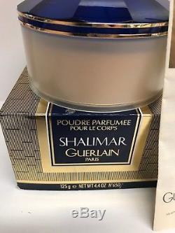 Guerlain- Shalimar- Perfumed Talcum Dusting Powder With the Puff-Rare -NIOB