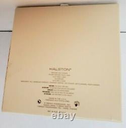 HALSTON Perfumed Bath Dusting Sealed POWDER Large 5.3 oz Original Vntg Full Box
