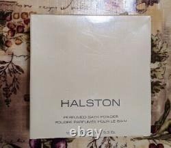 Halston Perfumed Bath Dusting Powder 5.3 oz PRISTINE NEW, FACTORY SEALED