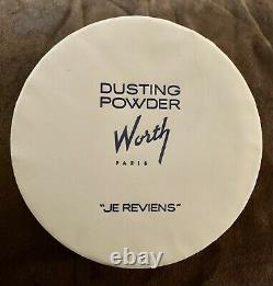 JE Reviews Worth Perfumed DUSTING POWDER 8 oz. + Puff NEW and Sealed in Box