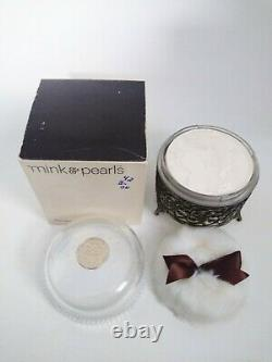 Jovan Mink & Pearls Bath Dusting Perfumed Powder 5 oz Vintage NOS New in Box