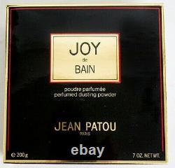 Joy De Bain Jean Patou Paris Dusting Powder Perfumed 7 Oz 200g Vintage NIB New