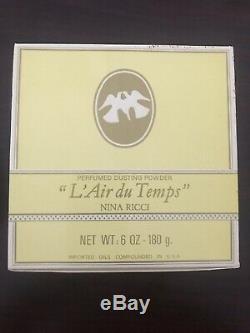 L'air Du Temps By Nina Ricci Dusting Body Powder 6 oz Sealed. New