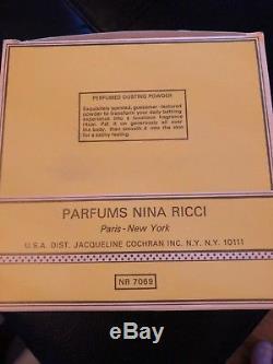 L'air Du Temps By Nina Ricci PERFUMED DUSTING POWDER 6 oz SEALED REFILL, In Box