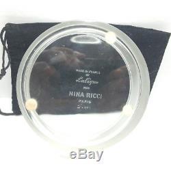 LALIQUE CRYSTAL Box Jar NINA RICCI PERFUME Dusting Body POWDER PUFF Ltd Ed 1975