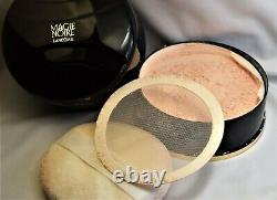 MAGIE NOIRE Vintage Perfumed Dusting Powder 6 oz. Lancome USED Nearly Full