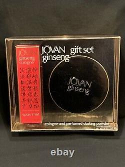 NIB 1970s Vintage 2oz Jovan GINSENG spray mist Perfume & 5oz dusting powder Set