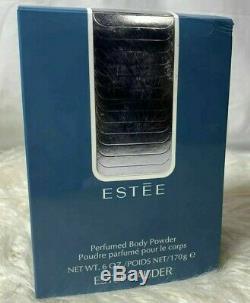 NIB ESTEE by Estee Lauder Perfumed Body Dusting POWDER & Puff 6 oz 170g Blue Box