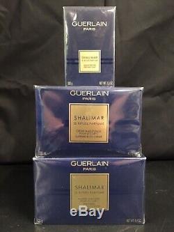 NIB Guerlain Shalimar Dusting Powder, Supreme Body Creme & Perfumed Soap