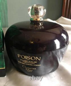 New Christian Dior Paris Poison Perfume Dusting Body Powder 7 oz Rare Vintage