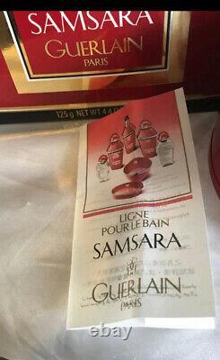 New Guerlain Samsara Perfume Dusting Body Powder 4.4 oz New In Box Rare