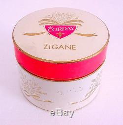 New! ZIGANE de CORDAY Perfume DUSTING POWDER 8 oz Tzigane Paris New York RARE