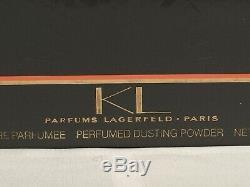 NewithSealed Rare Vintage KL Karl Lagerfeld Perfumed Dusting Powder 5.25 oz/150g