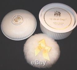 Nina Ricci L'Air du Temps Perfume Dusting Body Powder 6 oz. Puff Bath Talc NEW
