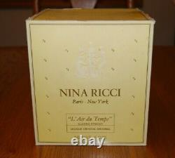 Nina Ricci L'air Du Temps Perfumed Dusting Powder Lalique Crystal Original