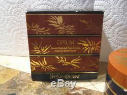 Opium Perfumed Body/dusting Bath Powder. Rare Vintage 6 Ounce Size Sealed With B